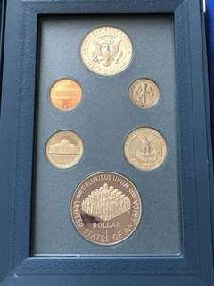"USA 1987 ""Prestige"" Set , 1 Dollar Coin Silver Proof"