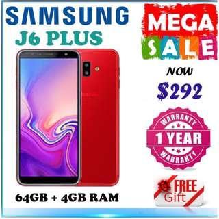 Samsung J6 Plus 64GB + 4Gb Ram / 1 Year Samsung Warranty