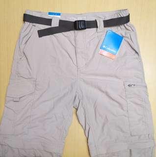 全新 Authentic 正版 Columbia Omni-Shade 男裝 長褲 二合一  30Wx32L *未剪牌*