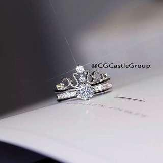 🚚 CG Castle Group Tiara Solitaire Ring
