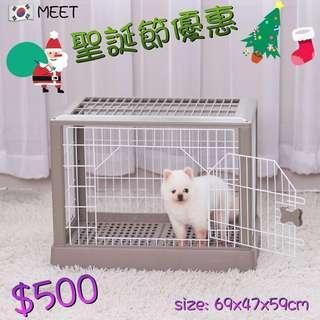 韓國🇰🇷MEET 方形鐵質樹脂寵物籠 MEET-204