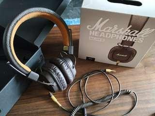 CHEAP wired Marshall Major II Headphones earcups peeled