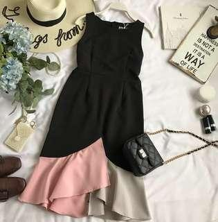 [PO]ColourBlock Mermaid Dress
