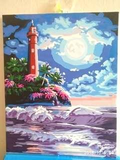 •INSTOCK• PAINTED DIY LIGHT HOUSE DECORATIONS