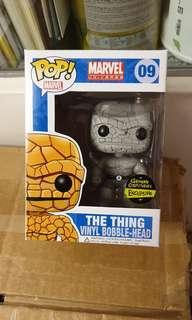 Funko pop black and white the thing