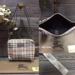 Burberry Haymarket Check Sling Bag Messenger Bag Crossbody Bag Women's Bag BROWN