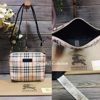 Burberry Haymarket Check Sling Bag Messenger Bag Crossbody Bag Women's Bag BLACK