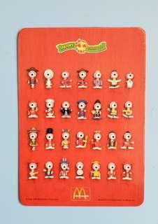 麥當勞 1999年 snoopy 年曆卡