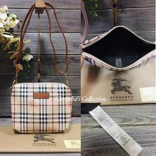 Burberry Haymarket Check Sling Bag Messenger Bag Crossbody Bag Women's Bag MOCHA