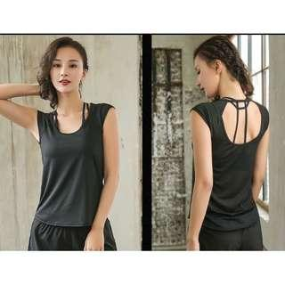 dry-fit yoga exercise fitness top size M