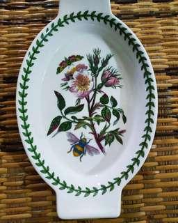 Portmeirion Oval Gratin Bowl - Dog Rose motif