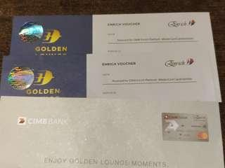 Golden Lounge Access for 2 persons