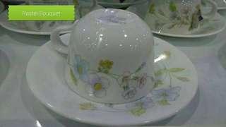 Corelle Pastel Bouquet Cup & Saucer