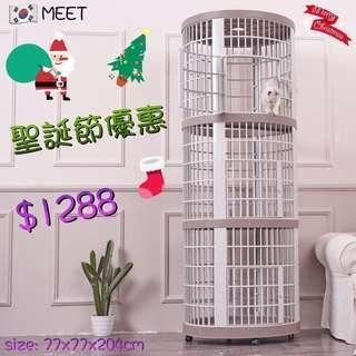 韓國🇰🇷MEET圓形三層樹脂貓籠 MEET-209