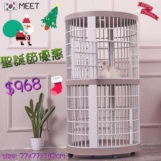 韓國🇰🇷MEET圓形雙層樹脂貓籠 MEET-208