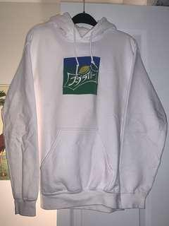 UO white hoodie Japanese sprite