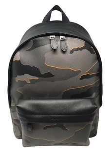 Authentic Coach F31557 Charles Backpack With Camo Print