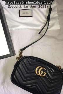 GG Marmont small Matelassé shoulder bag (AUTHENTIC)