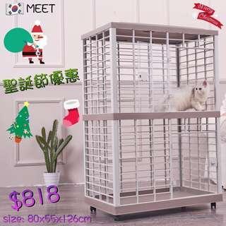 韓國🇰🇷MEET方形雙層樹脂貓籠 MEET-211