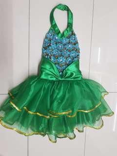 Green halter dress costume