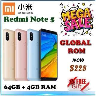 Xiaomi Redmi Note 5 64GB + 4GB Ram