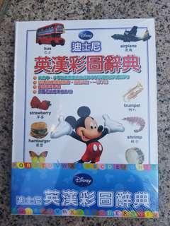 迪士尼全新英漢彩圖辭典連聽力CD十隻