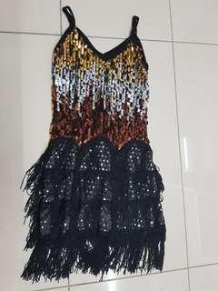 Black sequins costume