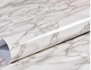 Black White Marble Stickers