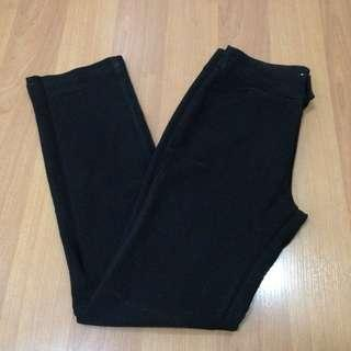 High waisted black pants