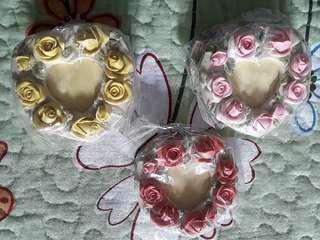 Mini Rose Heart-shaped Photo Frames