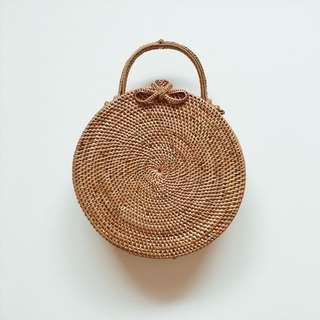 Round/Circle Handmade Rattan Bag