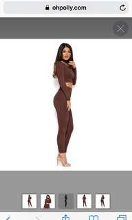 Oh Polly Chocolate Double Layered Leggings