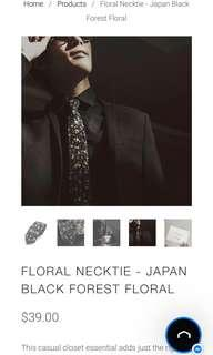 🚚 Caveman Floral Necktie Japan