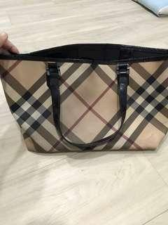 Used Authentic Burberrys Nova Tote Bag