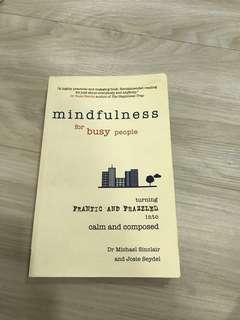 "BN ""Mindfulness for Busy People"" Book by Dr Michael Sinclair and Josie Seydel"