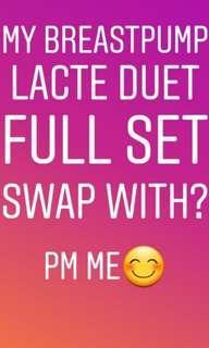 Swap lacte duet fullset offer me