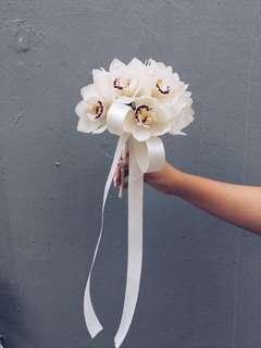 Bridal Cymbidium Bouquet
