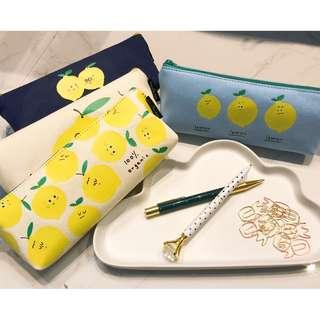 🚚 Lemon fabric pencil case