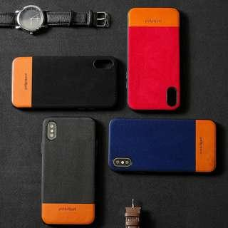 iPhone X, Xs, Xs Max Alcantara Leather Fully Cover Case