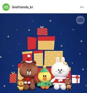 Line friends cony brown Christmas doll 最新運到