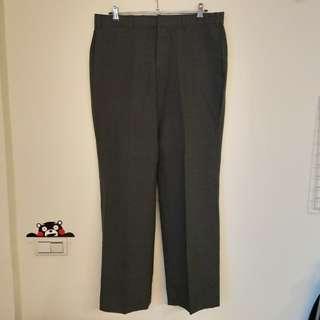 🚚 [ 阿瑋收藏樂 ] American hero西裝寬褲 西裝褲 正式 復古 鐵灰 男 女 中性