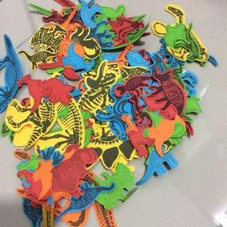 🦖🦕 Dinosaurs confetti cut out colourful mix