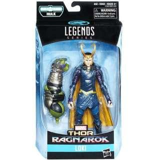 MISB Marvel Legends Thor Ragnarok Loki With Hulk Baf Action Figure