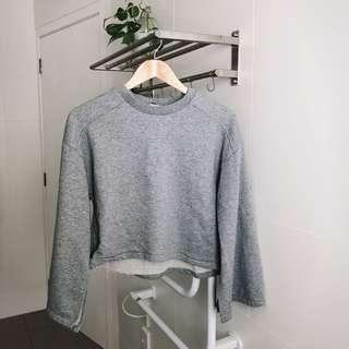 Glassons Grey Slit Batwing Top