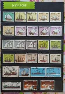 🚚 Singapore Old Stamps to let go