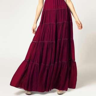 DRUSILLA boho tiered maxi skirt