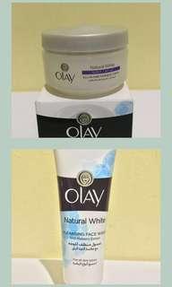 BUNDLE Olay Natural White Moisturizer + Facial Wash
