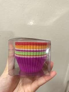 12PC SILICONE CUPCAKE CUPS