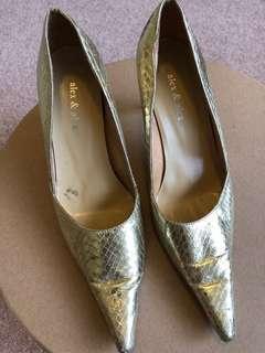 Alex and Alex gold heels