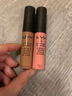 NYX Soft Matte Lip Cream London and Istanbul